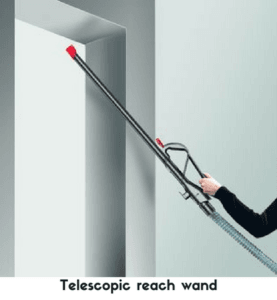 Telescopic reach wand